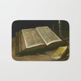 Vincent van Gogh - Still life with Bible, 1885 Bath Mat