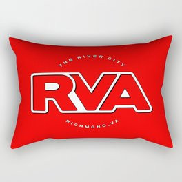"Rva Logo - Red | "" The River City "" Rectangular Pillow"