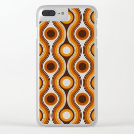 Older Patterns ~ Waves 70s Clear iPhone Case