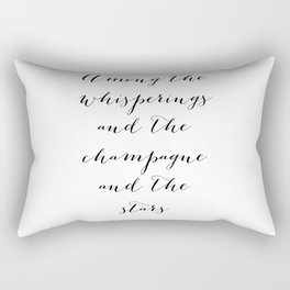 Among the whisperings and the champagne and the stars - The Great Gatsby Rectangular Pillow