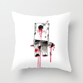RO-BOTTTTTTT Throw Pillow