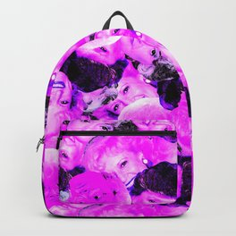 Golden Girls Toss in Electric Pop Pink Backpack