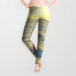 Summer Sunset The Sun and The Sea Waves Leggings