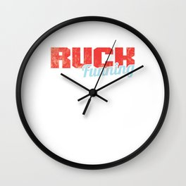 Awesome Runner Athlete Ruck Running Cross Country Wall Clock