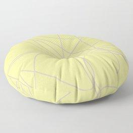 Ultimate Gray Illuminating Yellow Doodle  Floor Pillow