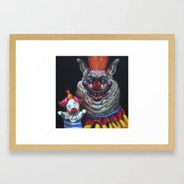 Fatso with Puppet Framed Art Print