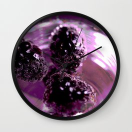 Black Berries Wall Clock