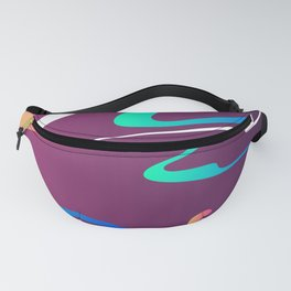 Swirls On Purple Abstract Design Fanny Pack