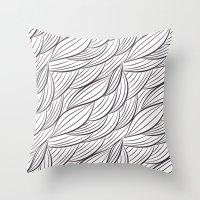 stark Throw Pillows featuring Stark Waves by SonyaDeHart