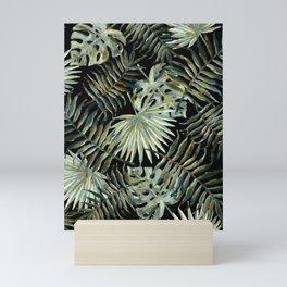 Jungle Dark Tropical Leaves #decor #society6 #pattern #style Mini Art Print