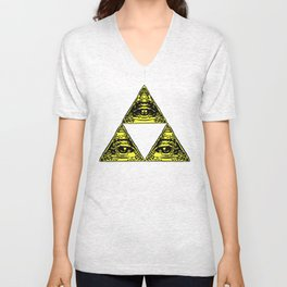 all seeing triforce Unisex V-Neck