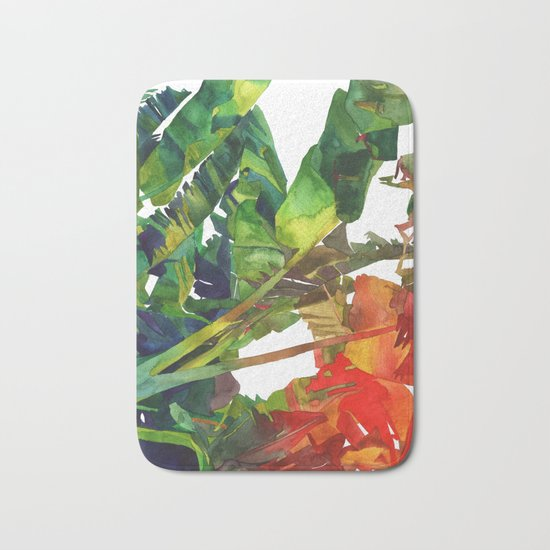 Bananas leaves Bath Mat