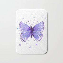 Butterfly Painting Purple Violet Abstract Butterfly Bath Mat