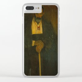 Angel Zarraga, (1886-1946), The old man with the Scapular Clear iPhone Case