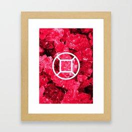 Ruby Candy Gem Framed Art Print