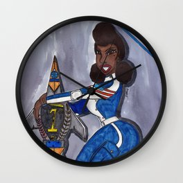Our Sensational Blue Angel Wall Clock