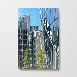 Triangle Reflections Metal Print