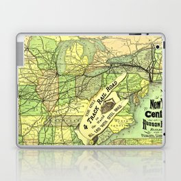 1876 Map NY Central & Hudson River RR Laptop & iPad Skin