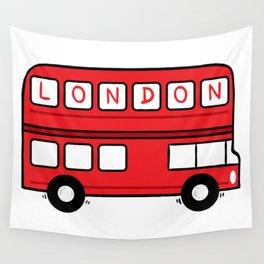 London Bus Wall Tapestry