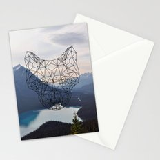 Wolf and mountains Stationery Cards