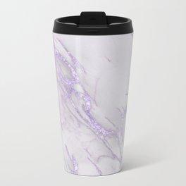 Ultra Violet Marble Metal Travel Mug
