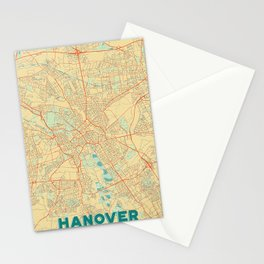 Hanover Map Retro Stationery Cards
