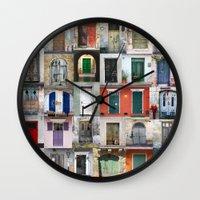 doors Wall Clocks featuring Thirty Doors by Igor Shrayer