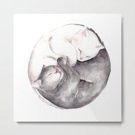 Yin & Yang Metal Print