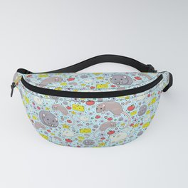 Pretty Rat and Mouse Pattern Fanny Pack