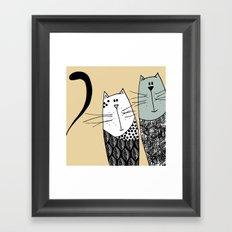 Mr & Mrs Cat Framed Art Print