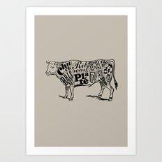 Cow Cuts Art Print