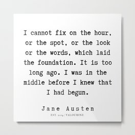 10    | Jane Austen Quotes | 190722 Metal Print