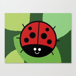 Cutesy Crawlies — Ladybird Canvas Print