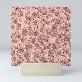 Blush Whimsical Garden Flowers Mini Art Print