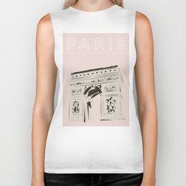 Paris Arc de Triomphe de l'Étoile Travel Poster Biker Tank
