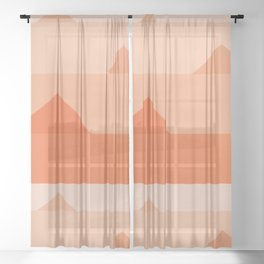 Abstraction_Triangles_001 Sheer Curtain