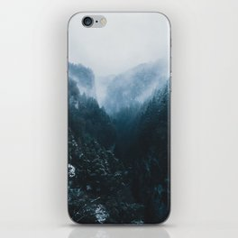 Foggy Forest Mountain Valley - Landscape Photography iPhone Skin