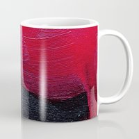 oil Mugs featuring Red oil by MargherittaVi