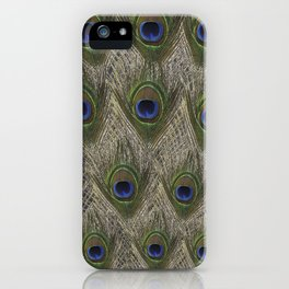 Peacock tail iPhone Case