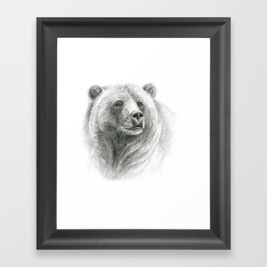 Grizzly Bear G2012-057 Framed Art Print