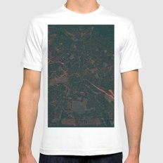 Berlin Map Red MEDIUM Mens Fitted Tee White