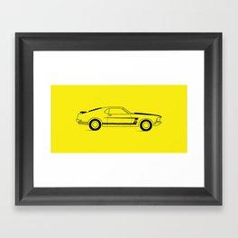Mustang Boss Framed Art Print