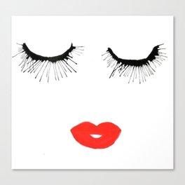 Lashes & Lips Canvas Print