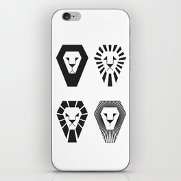 animal PICTOGRAMS vol. 3 - LIONS iPhone Skin