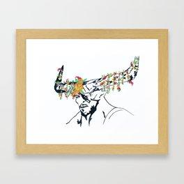 The Iron Bull Flower Crown Framed Art Print