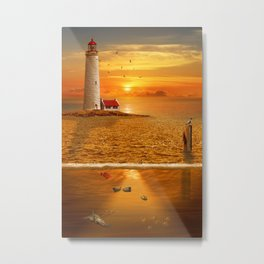 The view above and under water Metal Print