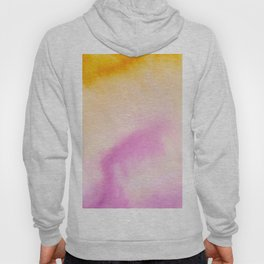 Sunflower yellow magenta pink abstract watercolor paint Hoody