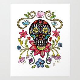 Calaca Dieguito Art Print
