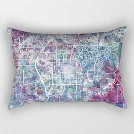Fayetteville map Arkansas Rectangular Pillow