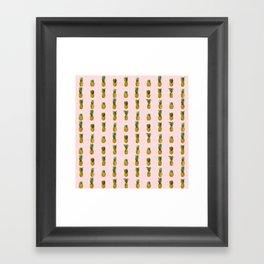 Pineapple on Pink Framed Art Print